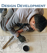 Design development of tile panels to suit customer dimension