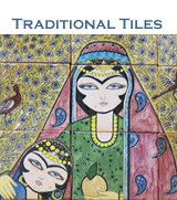 Traditional decorative ceramic / tile