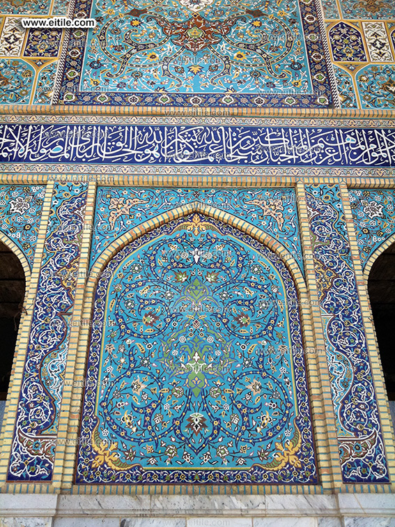 mosque tile with calligraphy, www.eitile.com