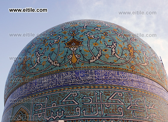 Mosaic Tile on Mosque Dome, Dome Decoration, www.eitile.com