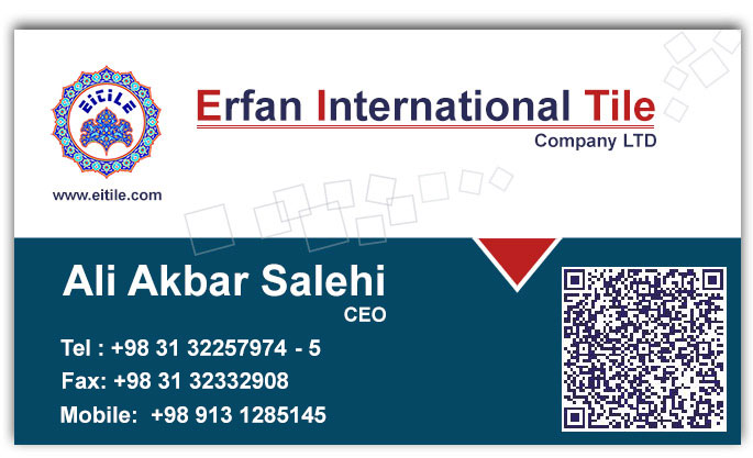 Ali Akbar Salehi business card,Eitile CEO, www.eitile.com