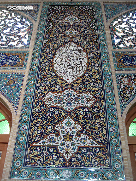 Calligraphy tiles for mosque, www.eitile.com