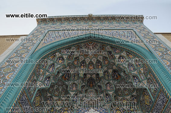 Mogharnas Entrance door, Mosque Decoration, Erfan International Tile, www.eitile.com