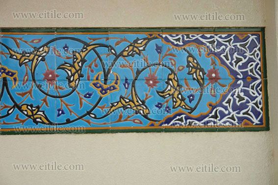 7 color ceramic tile, haftrang ceramic tile, hand painted ceramic tile, eitile.com