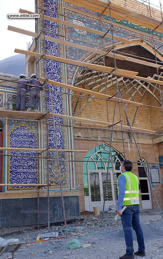 handmade tile installation for mosque, www.eitile.com