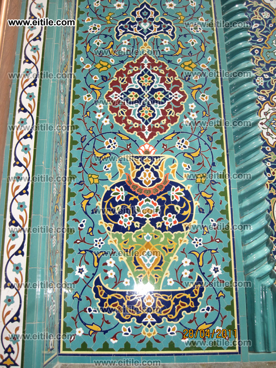 Special Ceramic Tile ( Pich ) mostly used under the arcs in Mosques, www.eitile.com