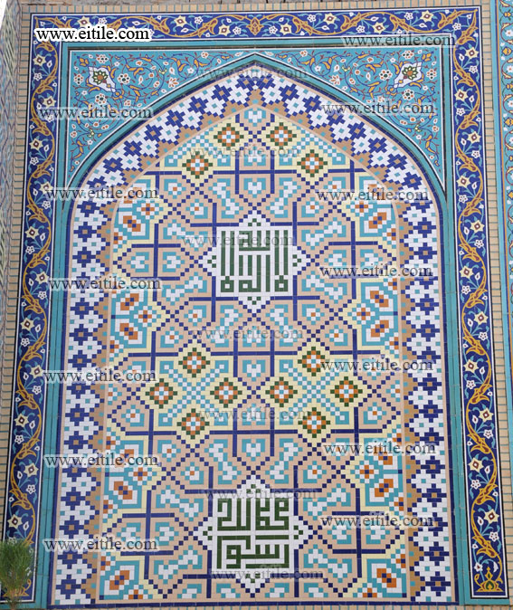 Moagheli mosaic tile, mosque decoration, www.eitile.com
