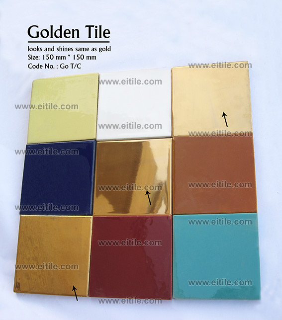 Golden tile raw materials, www.eitile.com