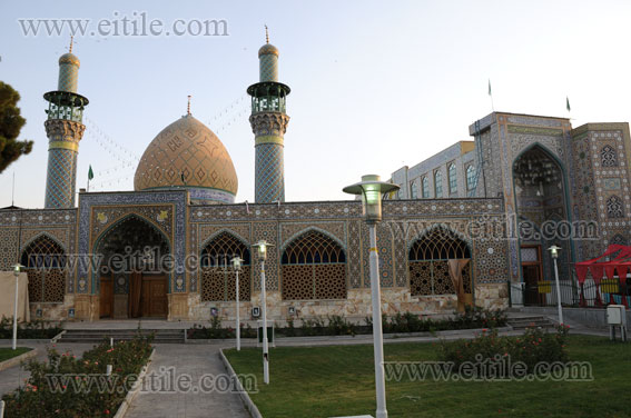 Abol abbas shrine isfahan iran erfan international tile for Mosque exterior design