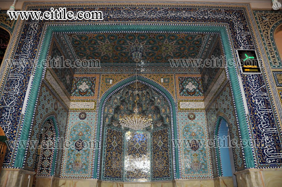 Mogharnas, Muqarnas Ceramic Tile, Mosque Decoration, Islamic Ceramic Tile, eitile.com